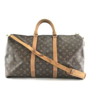 Keepall with Strap 50 Bandouliere Travel Bag